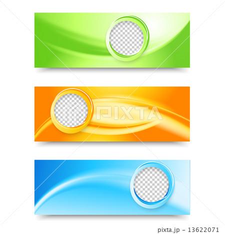flyer template header design のイラスト素材 13622071 pixta