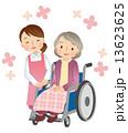車椅子に乗る高齢者 介護 13623625