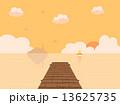 桟橋 海 夕焼け 13625735