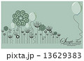 Cute floral background 13629383