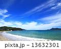 砂浜 海 青空の写真 13632301