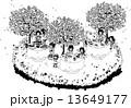 お花見 ベクター 春のイラスト 13649177