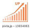 棒グラフ グラフ 上昇のイラスト 13654063