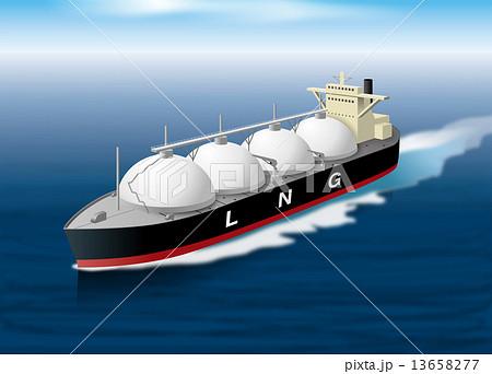 LNGタンカーイラスト 13658277