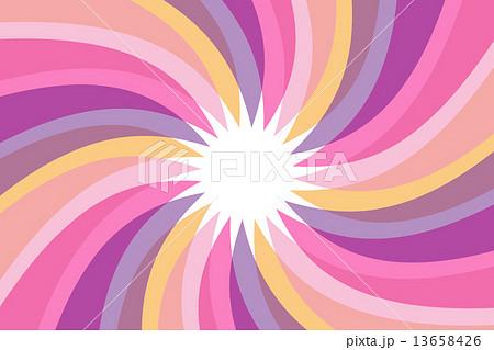 イラスト素材: 背景,素材,壁紙,渦巻き,うず巻き,渦状,螺旋状,らせん状,スパイラル,放射状,カラフル,透明感,光沢,蛍光色,旋風,竜巻,太陽