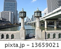 土佐堀川 レトロ 街灯の写真 13659021
