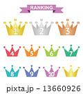 ランキング ベクター 王冠のイラスト 13660926