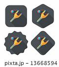 パチンコ ぱちんこ フラットのイラスト 13668594
