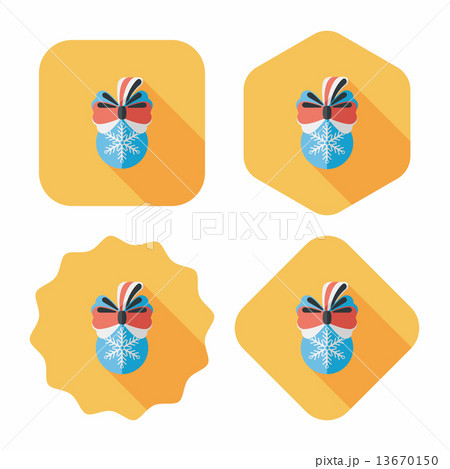 Christmas hanging flat icon with long shadow,eps10 13670150