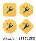 パチンコ ぱちんこ フラットのイラスト 13671655
