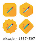 Recorder flat icon with long shadow,eps10 13674597