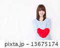 若い女性 バレンタイン  13675174
