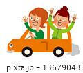 車_横向き 友達と遊びに行く 13679043