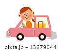 車_横向き 女の人のマイカー 13679044