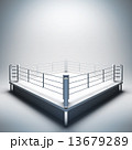 Empty white boxing ring. 13679289