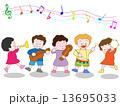 幼稚園 ベクター 演奏会のイラスト 13695033