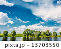 Beautiful Russian Lake River, Summer Nature Landscape 13703550