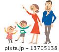 家族4人 注目する01 13705138