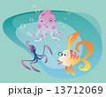 タコ たこ 蛸のイラスト 13712069