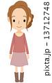 若い女性 全身 13712748