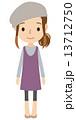 若い女性 全身 13712750