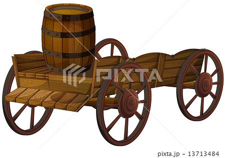 barrel and wagonのイラスト素材 [13713484] - PIXTA