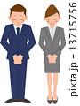 ビジネス 全身 人物のイラスト 13715756