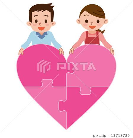 ラブラブ夫婦のイラスト素材 13718789 Pixta