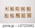 スクラブル 木製 アルファベットの写真 13725062
