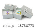 Gold rings in boxes 13738773