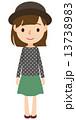 若い女性 全身 13738983