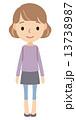 若い女性 全身 13738987