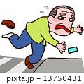つまずいて転倒したおじいさん 13750431