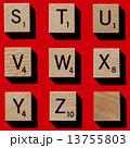スクラブル 木製 アルファベットの写真 13755803