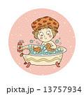 Vector illustration (little girl in the bathroom) 13757934