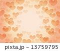 ハート型 フレーム オレンジ色のイラスト 13759795