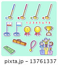 ベクター グラウンドゴルフ セットのイラスト 13761337