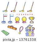 ベクター グラウンドゴルフ セットのイラスト 13761338