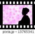 シルエット ベクター 舞妓のイラスト 13765341