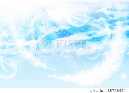 空に舞う羽 13766444