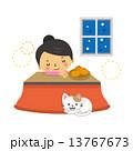 冬 炬燵 寝る 13767673