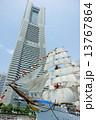 横浜ランドマークタワー 日本丸 帆船の写真 13767864