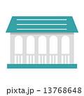柵 格子 屋根 アーチ 小屋  13768648