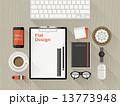 タブレット テーブル フォンのイラスト 13773948