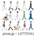 歩いている人々 / 医者&看護師 13775541
