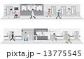 ベクター 診療所 病院のイラスト 13775545