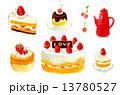 ケーキとポット 13780527