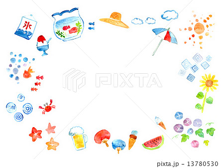 夏の風物詩のイラスト素材 13780530 Pixta