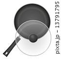 焼き加減 調理用品 フライパンのイラスト 13791795