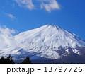 冬山 山 富士山の写真 13797726